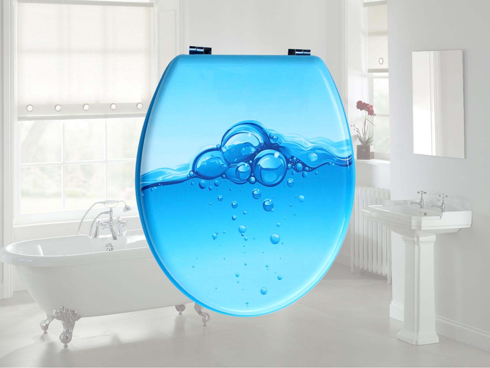 mdf wc sitz toilettendeckel klodeckel klobrille wc deckel toilettensitz brille ebay. Black Bedroom Furniture Sets. Home Design Ideas