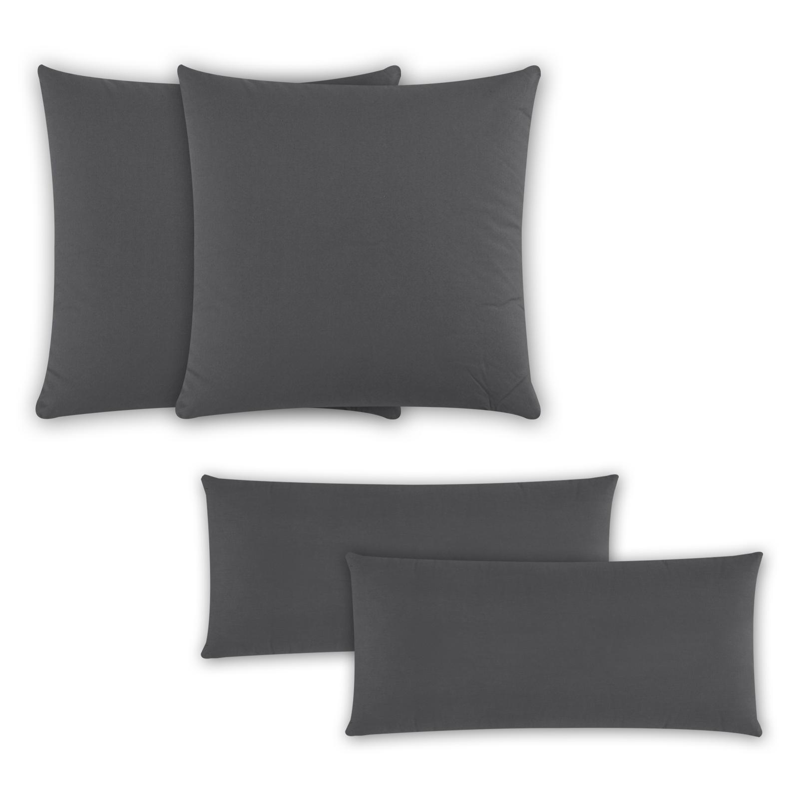 2er-Pack-Renforce-Baumwolle-Kissenbezug-Kissenhuelle-Kissen-Dekokissen-Uni-Farben