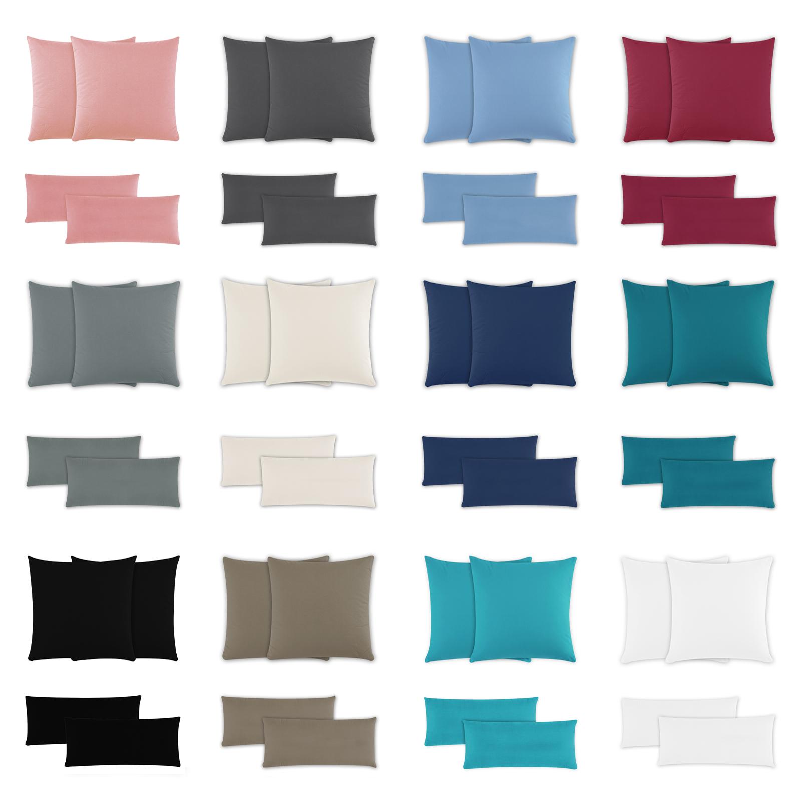 Kopfkissenbezug Kissenbezug Kissenhülle 40x80 cm Grau Baumwolle Reißverschluss