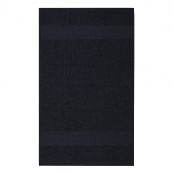 Frottee Handtuch 50x100 cm Schwarz