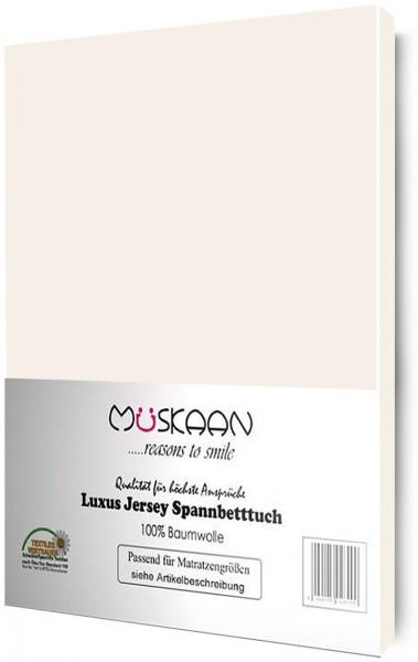 Jersey Spannbettlaken 90x200 - 100x200 cm Natur