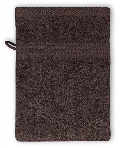 Frottee Waschhandschuh 16x21 cm Braun