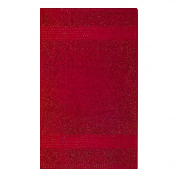Frottee Handtuch 50x100 cm Rot