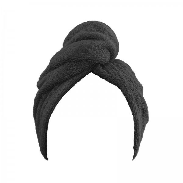 Frottee Turban Kopfhandtuch 27x72 cm Anthrazit