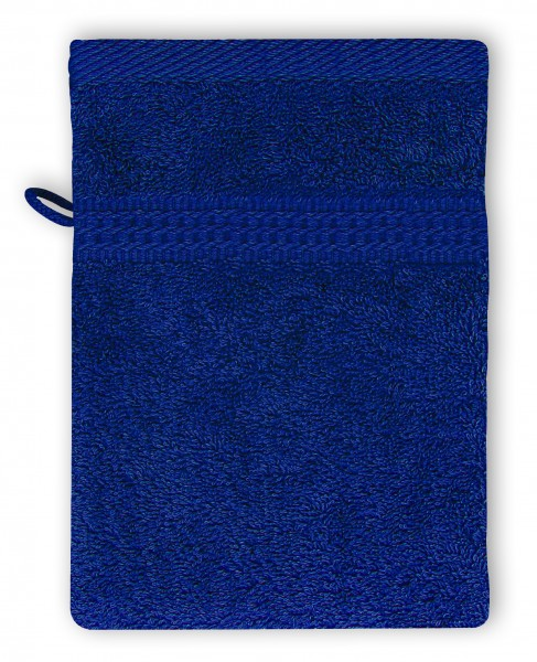 Frottee Waschhandschuh 16x21 cm Royalblau