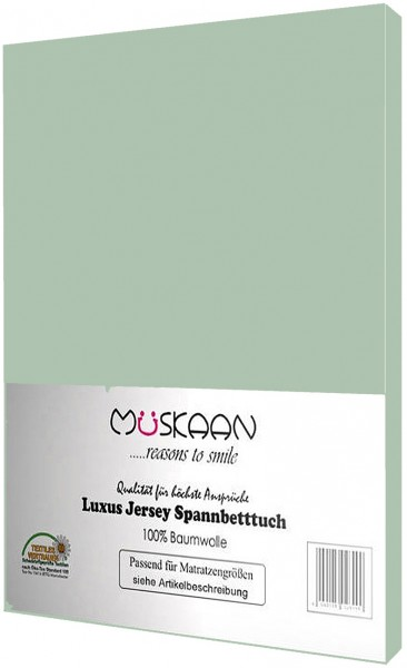 Jersey Spannbettlaken 140x200 - 160x200 cm Eukalyptus