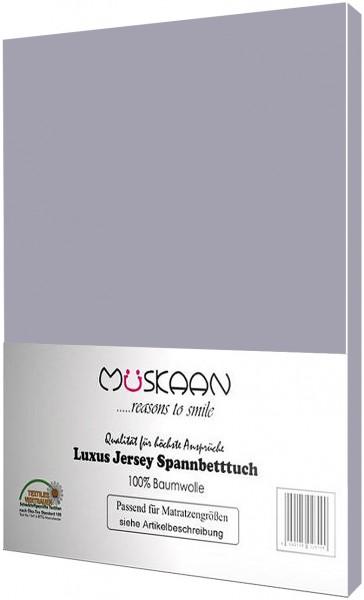 Jersey Spannbettlaken 180x200 - 200x200 cm Grau