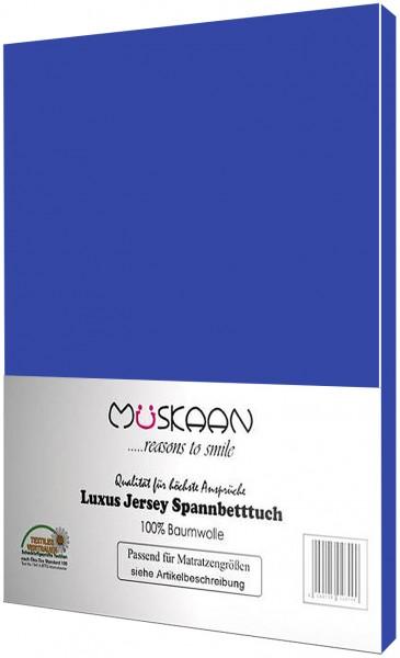 Jersey Spannbettlaken 120x200 - 130x200 cm Royalblau
