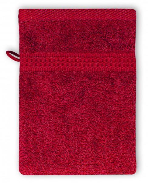 Frottee Waschhandschuh 16x21 cm Rot