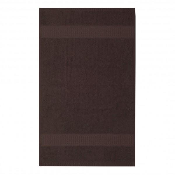 Frottee Handtuch 50x100 cm Braun