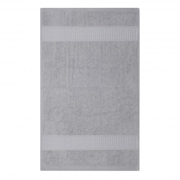 Frottee Handtuch 50x100 cm Silber