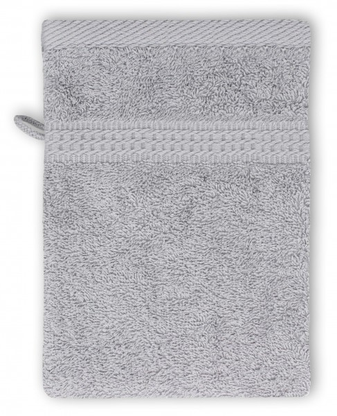 Frottee Waschhandschuh 16x21 cm Silber