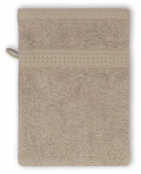 Frottee Waschhandschuh 16x21 cm Beige