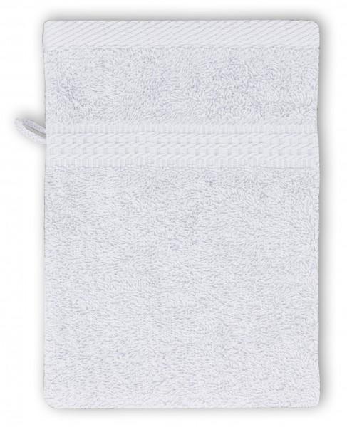 Frottee Waschhandschuh 16x21 cm Weiß
