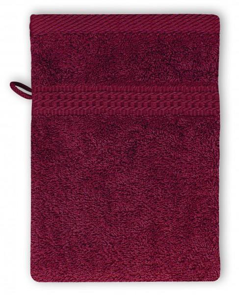 Frottee Waschhandschuh 16x21 cm Bordeaux