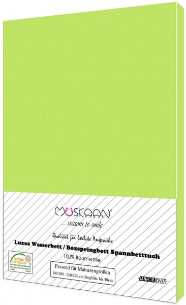 Boxspringbett / Wasserbett Jersey Spannbettlaken 180x200 - 200x220 cm Apfelgrün