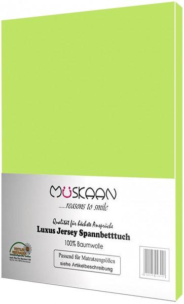 Jersey Spannbettlaken 90x200 - 100x200 cm Apfelgrün