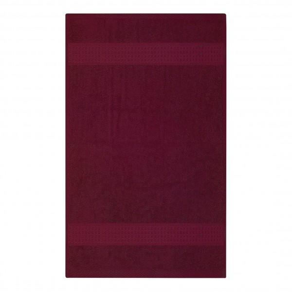 Frottee Handtuch 50x100 cm Bordeaux