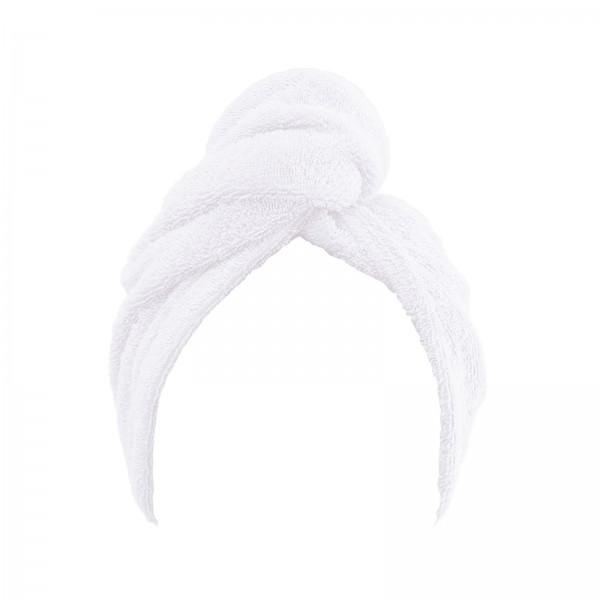 Frottee Turban Kopfhandtuch 27x72 cm Weiss
