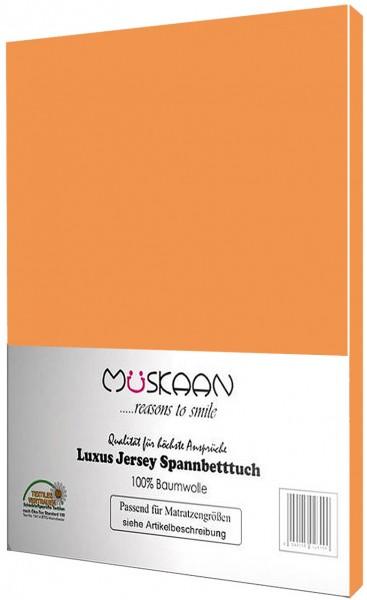 Jersey Spannbettlaken 90x200 - 100x200 cm Orange